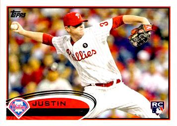 2012 Topps Justin De Fratus Rookie Card
