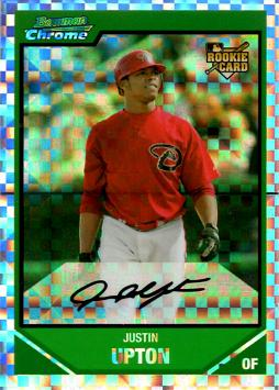 2007 Bowman Chrome Xfractor Justin Upton Rookie Card