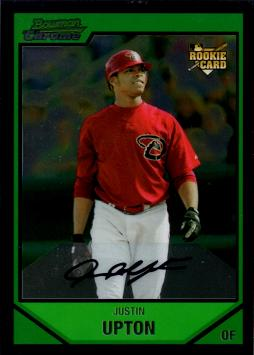 Justin Upton Bowman Chrome Rookie Card