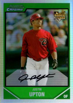 Justin Upton Bowman Chrome Refractor Rookie Card