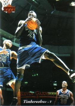 1995 Upper Deck Kevin Garnett Rookie Card