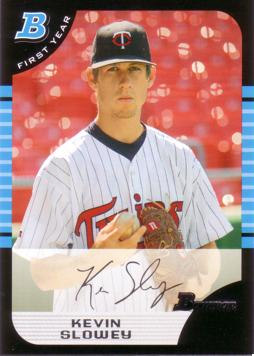 2005 Bowman Draft Picks Kevin Slowey Rookie Card