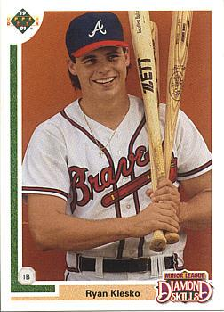 1991 Upper Deck Final Ryan Klesko rookie card