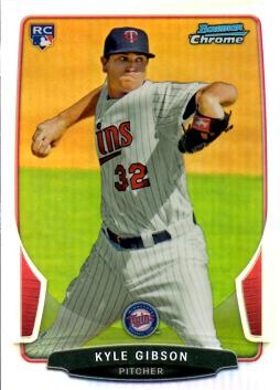 2013 Bowman Chrome Refractor Kyle Gibson Rookie Card
