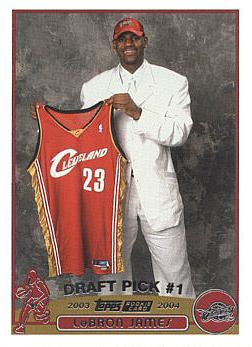 2003 - 2004 Topps LeBron James Rookie Card