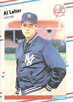 1988 Fleer Update Al Leiter rookie card