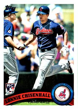 2011 Topps Update Baseball Lonnie Chisenhall Rookie Card