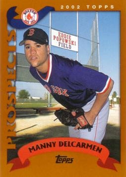 2002 Topps Traded Manny Delcarmen Rookie Card