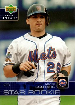 2003 Upper Deck First Pitch Marco Scutaro Rookie Card