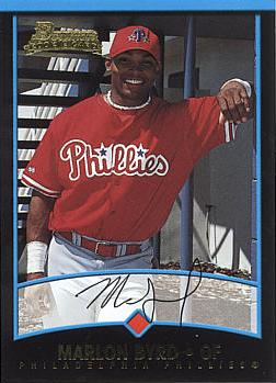 2001 Bowman Draft Picks Marlon Byrd Rookie Card
