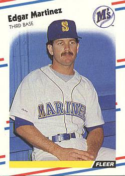 1988 Fleer Edgar Martinez rookie card