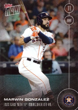 Marwin Gonzalez Hits Walk-off Home Run Baseball Card