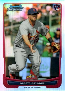 2012 Bowman Chrome Refractor Matt Adams Rookie Card