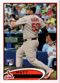 2012 Topps Update Baseball Matt Adams Rookie Card