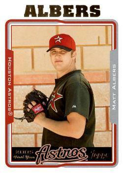 2005 Topps Update Matt Albers Rookie Card