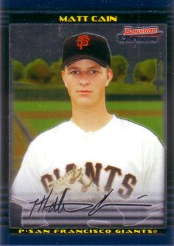 Matt Cain Bowman Chrome Rookie Card