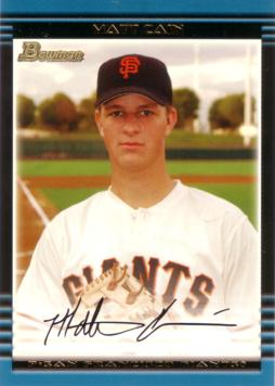 2002 Bowman Draft Picks Matt Cain Rookie Card