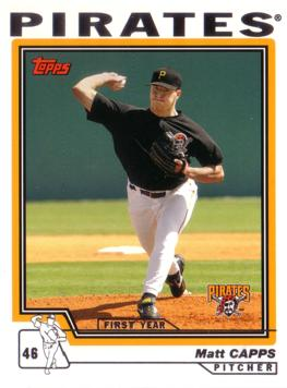 2004 Topps Traded Matt Capps Rookie Card