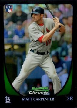 2011 Bowman Chrome Refractor Matt Carpenter Rookie Card