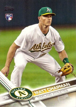 2017 Topps Update Baseball Matt Chapman Rookie Card