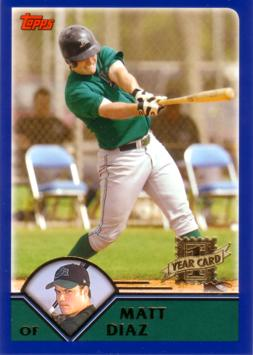 2003 Topps Traded Matt Diaz Rookie Card