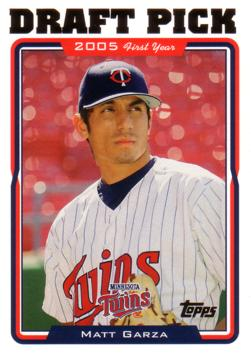 2005 Topps Update Matt Garza Rookie Card