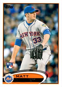 2012 Topps Update Matt Harvey Rookie Card