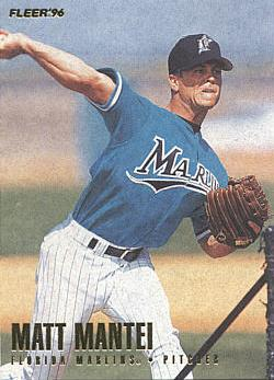 1996 Fleer Update Matt Mantei Rookie Card