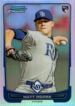 2012 Bowman Chrome Refractor Matt Moore Rookie Card