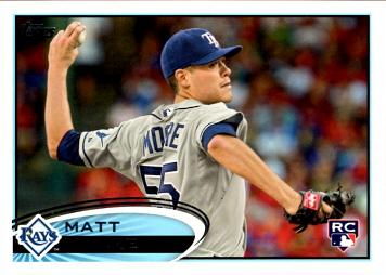 2012 Topps Baseball Matt Moore Rookie Card