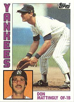 1984 Topps Don Mattingly rookie card