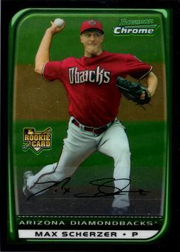 2008 Bowman Chrome Max Scherzer Rookie Card
