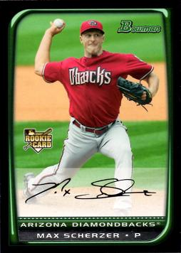 2008 Bowman Draft Picks Baseball Max Scherzer Rookie Card