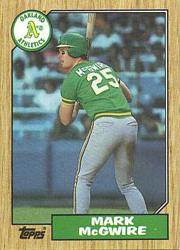 1987 Topps Mark McGwire Card