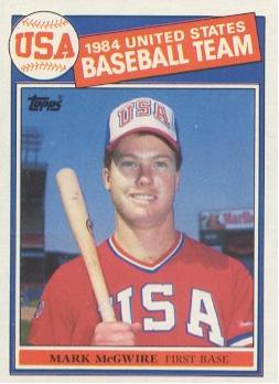 Mark McGwire Rookie Card