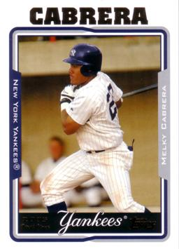 Melky Cabrera Rookie Card