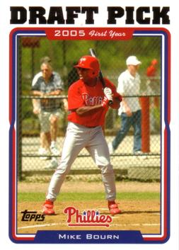 2005 Topps Mike Bourn Rookie Card
