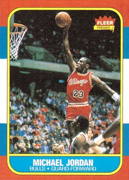 Michael Jordan 1986 Fleer Rookie Card - Reprint