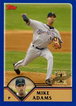 2003 Topps Traded Mike Adams Rookie Card