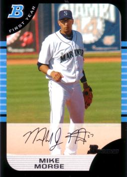 2005 Bowman Mike Morse Rookie Card