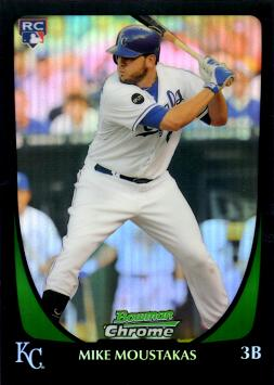2011 Bowman Chrome Draft Picks Refractor Mike Moustakas Rookie Card