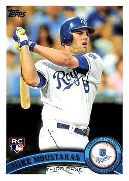 2011 Topps Update Mike Moustakas Rookie Card