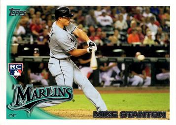 2010 Topps Update Mike Stanton Rookie Card