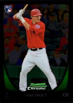 2011 Bowman Chrome Baseball Mike Trout Rookie Card