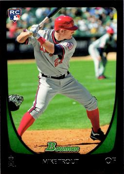 2011 Bowman Draft Baseball Mike Trout Rookie Card