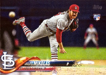 2018 Topps Update Baseball Miles Mikolas Rookie Card