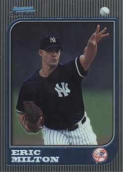 1997 Bowman Chrome Eric Milton Rookie Card