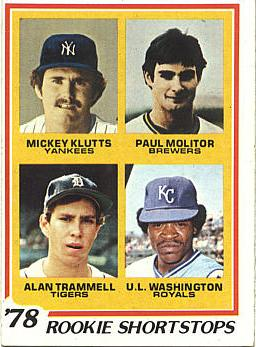 Alan Trammell Rookie Card