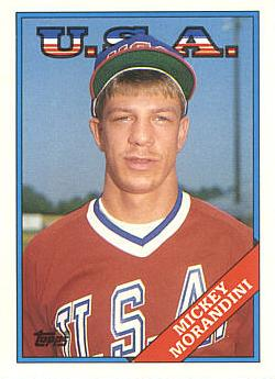 1988 Topps Traded Mickey Morandini Rookie Card