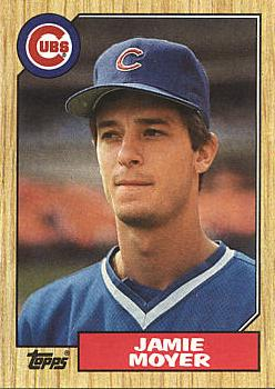 1987 Topps Baseball Jamie Moyer Rookie Card